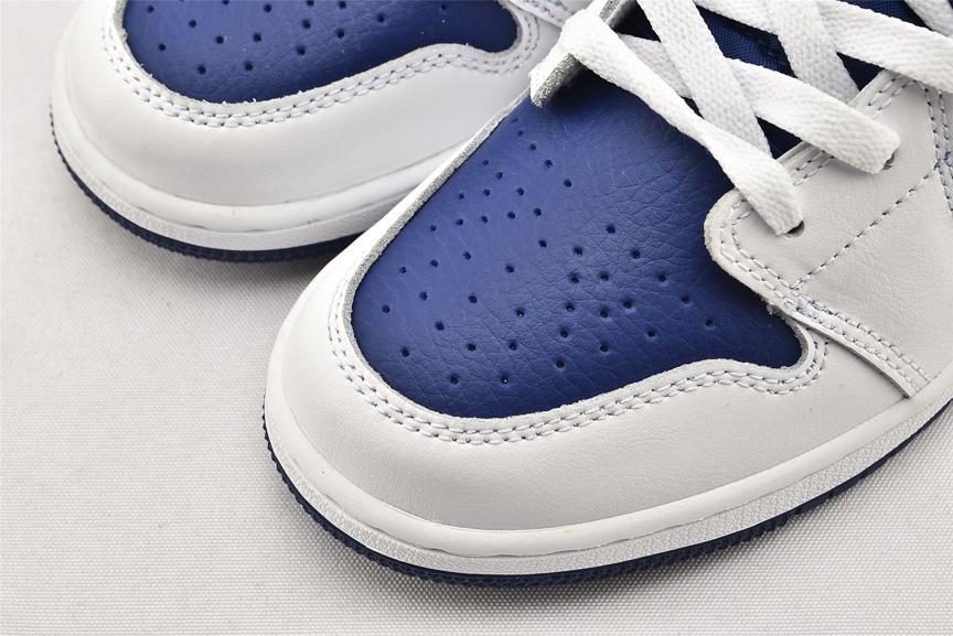Air Jordan 1 Mid GS White Deep Royal Blue 3