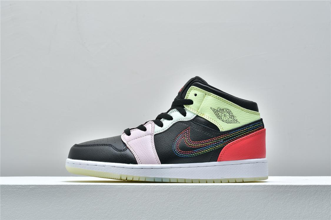 Air Jordan 1 Mid Glow In The Dark 1
