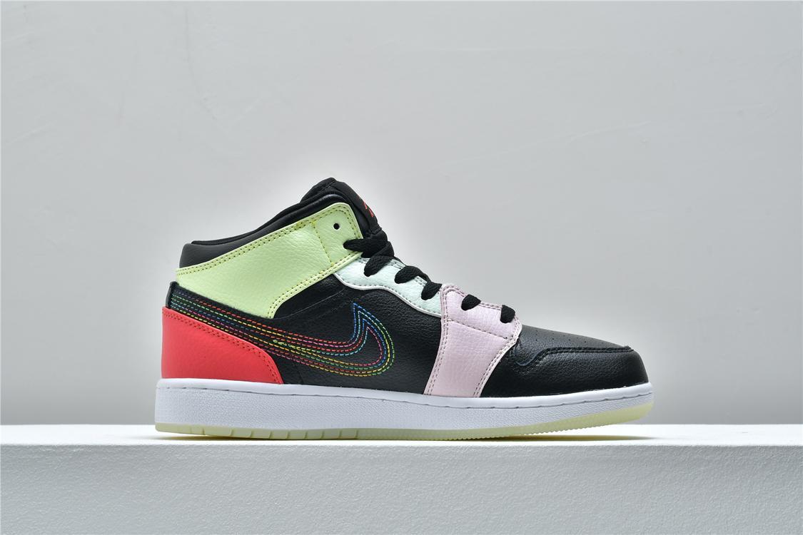 Air Jordan 1 Mid Glow In The Dark 2