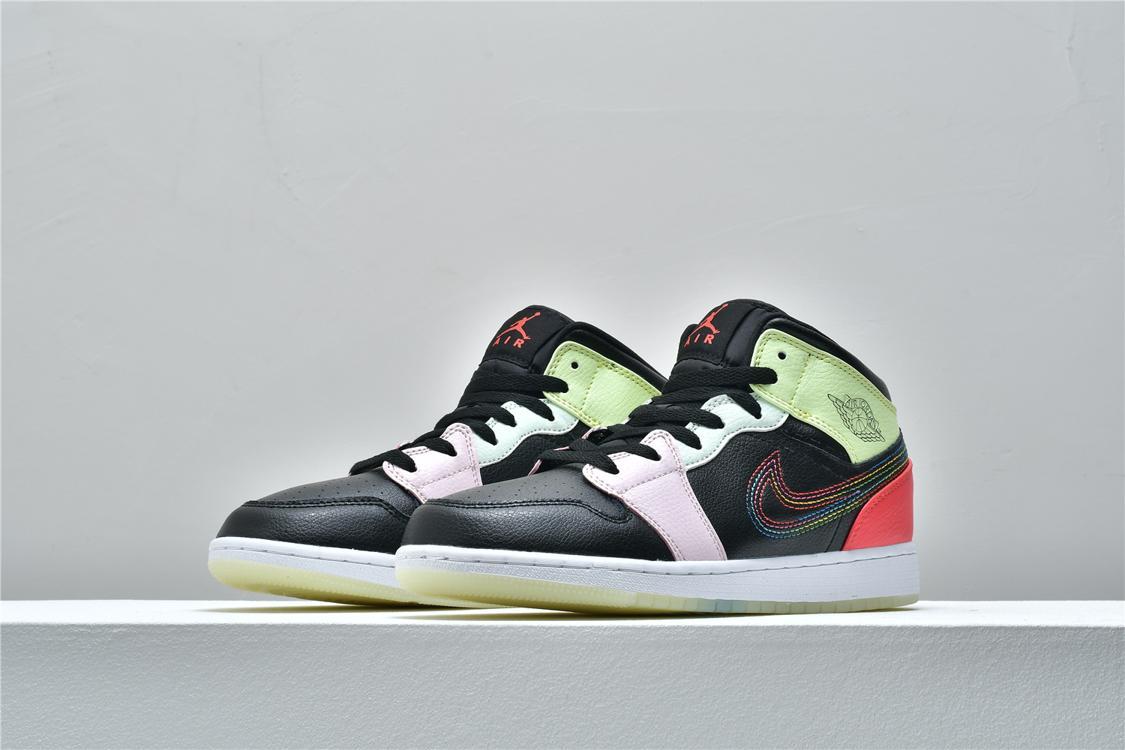 Air Jordan 1 Mid Glow In The Dark 4