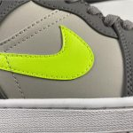Air Jordan 1 Mid Grey Volt 3