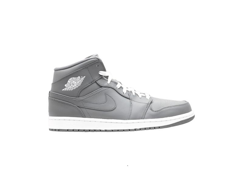 Air Jordan 1 Mid Grey White