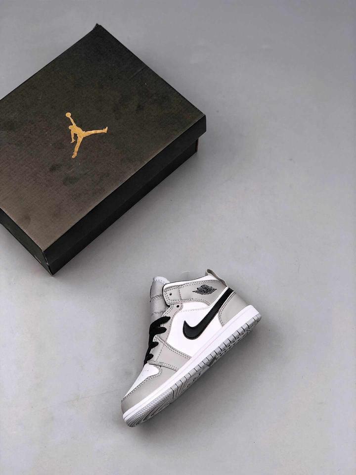 Air Jordan 1 Mid Light Smoke Grey PS 2
