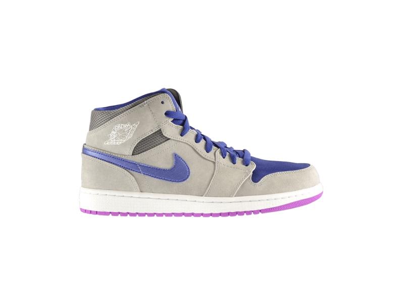 Air Jordan 1 Mid Matte Silver Purple