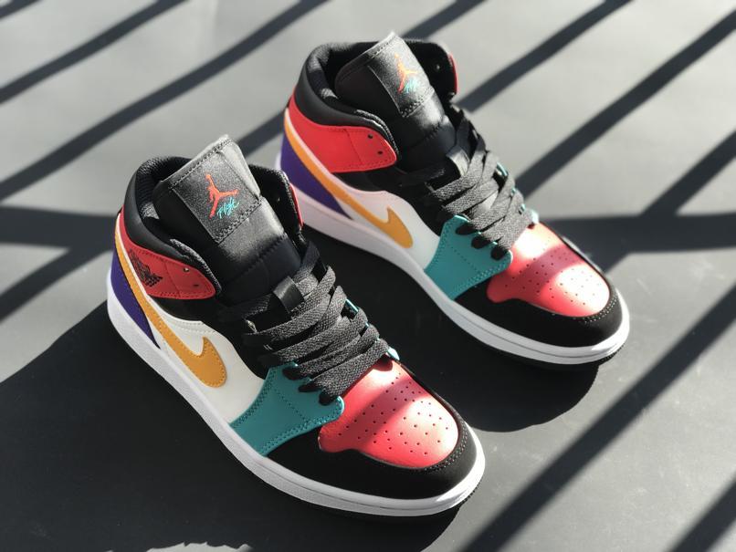 Air Jordan 1 Mid Multi Color 1