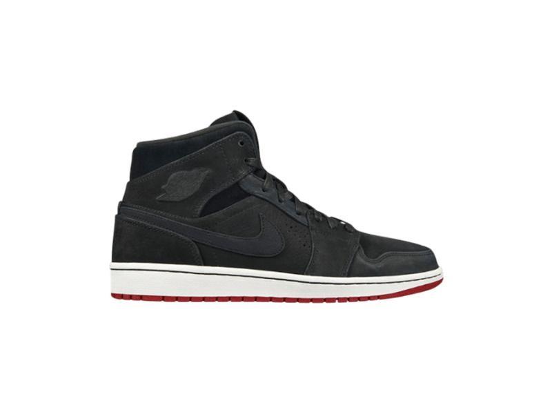 Air Jordan 1 Mid Nouveau Black Red