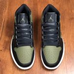 Air Jordan 1 Mid Olive Canvas 2