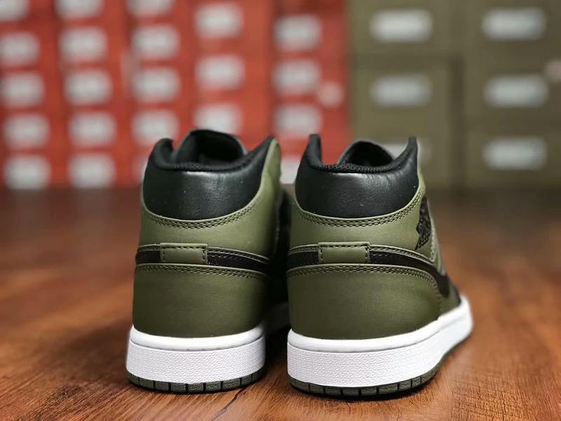 Air Jordan 1 Mid Olive Canvas 3