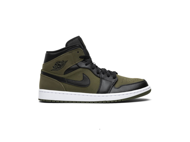 Air Jordan 1 Mid Olive Canvas