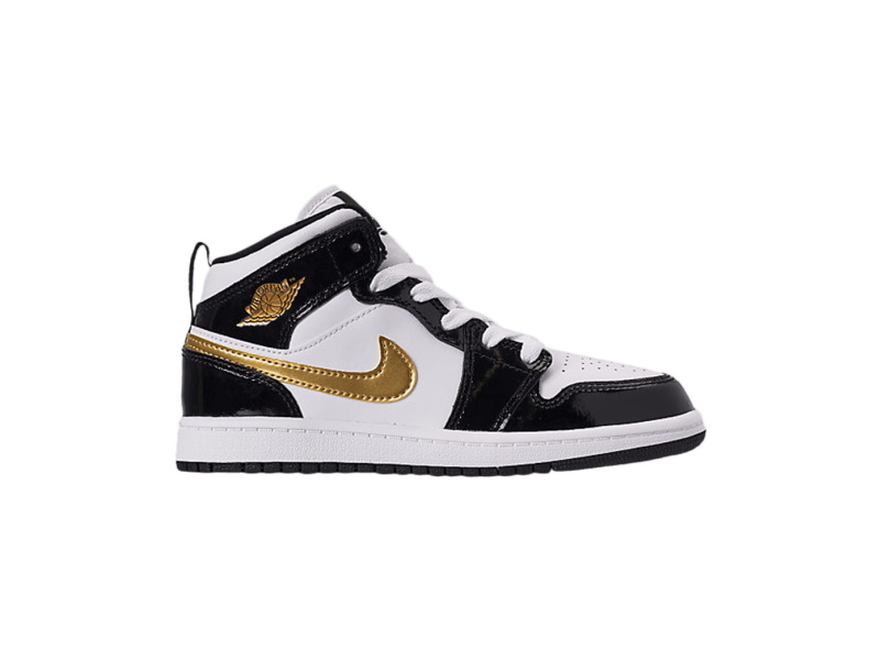 Air Jordan 1 Mid Patent PS Black Gold