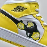 Air Jordan 1 Mid SE GS Rose Patch Dynamic Yellow 7