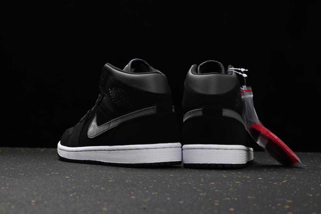 Air Jordan 1 Mid SE Nylon Black Grey 3