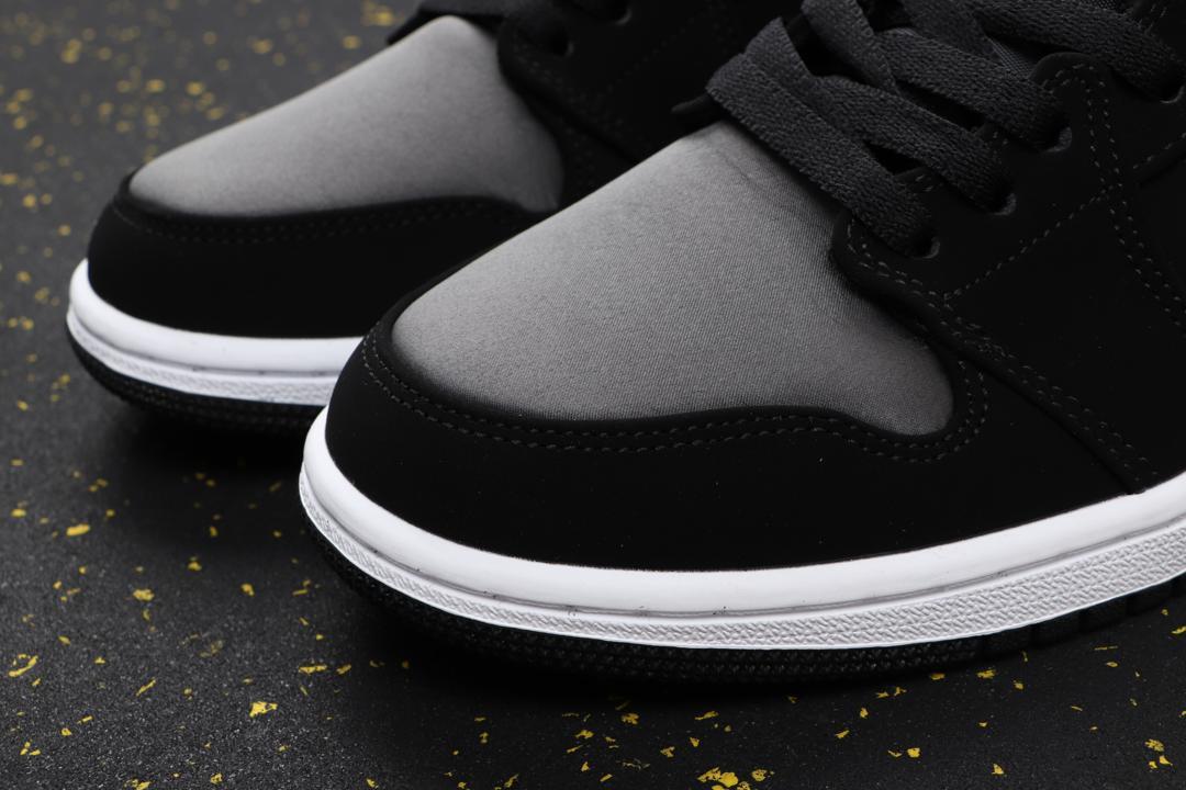 Air Jordan 1 Mid SE Nylon Black Grey 5