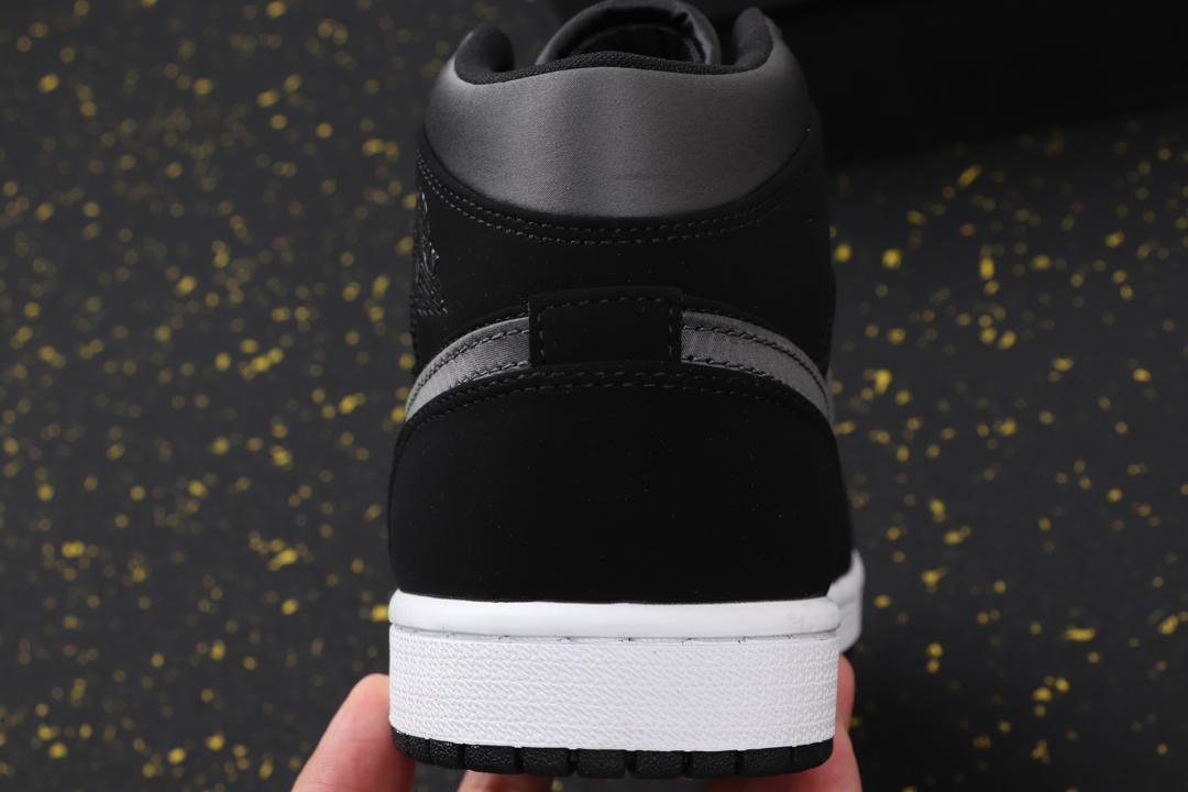 Air Jordan 1 Mid SE Nylon Black Grey 7