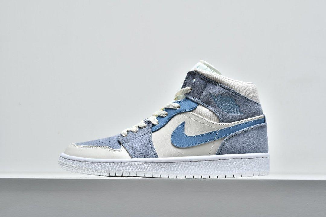 Air Jordan 1 Mid SE Sail Light Blue 1