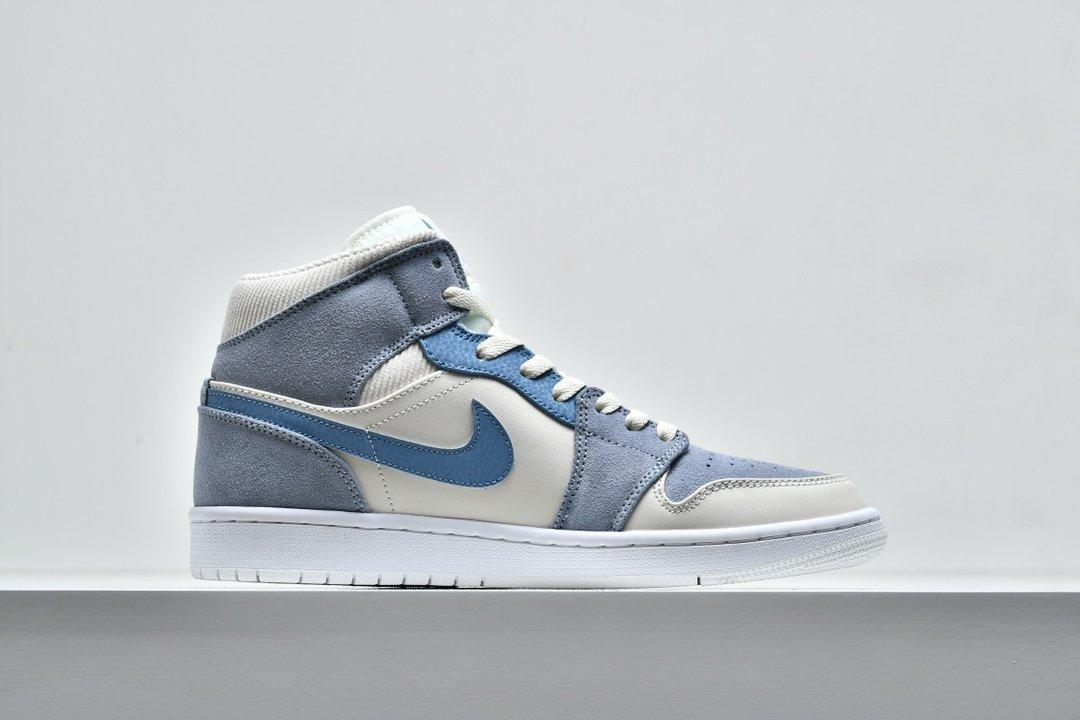 Air Jordan 1 Mid SE Sail Light Blue 2