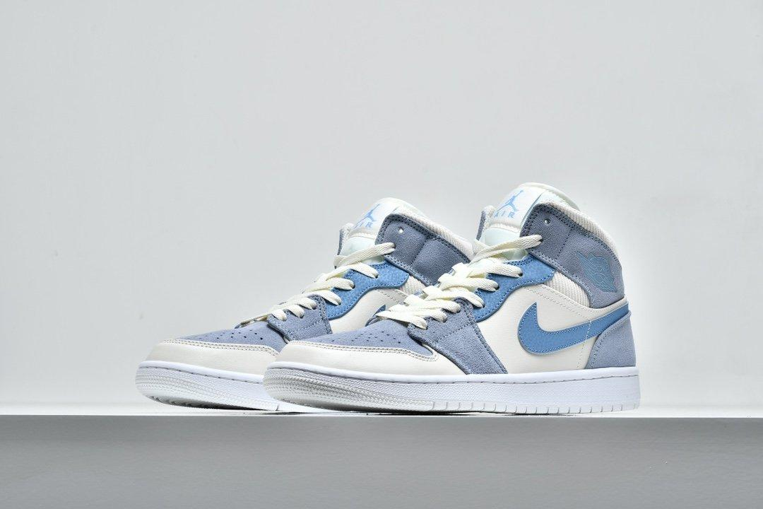 Air Jordan 1 Mid SE Sail Light Blue 5