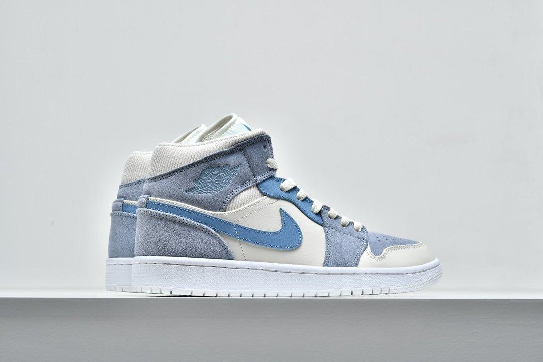 Air Jordan 1 Mid SE Sail Light Blue 7