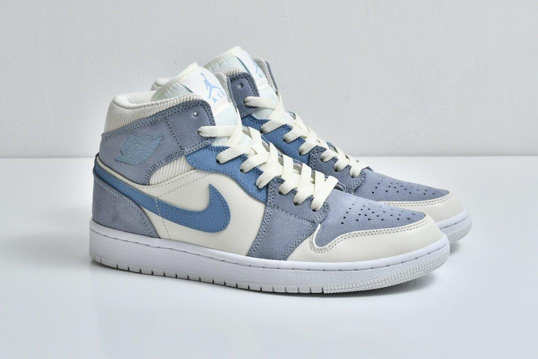 Air Jordan 1 Mid SE Sail Light Blue 8