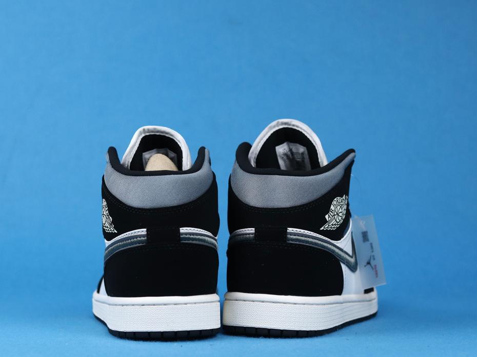 Air Jordan 1 Mid SE Satin Smoke Grey 4