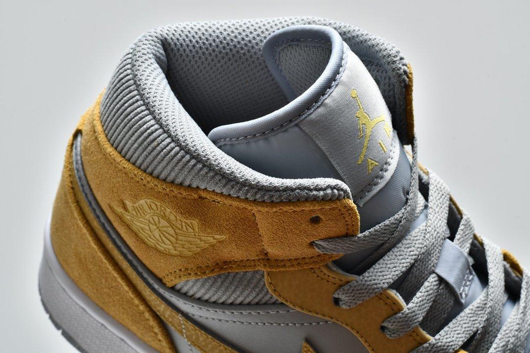 Air Jordan 1 Mid SE Tan Grey 12