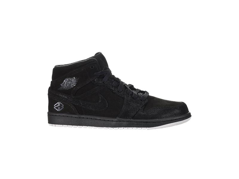 Air Jordan 1 Mid Suit and Sneakers
