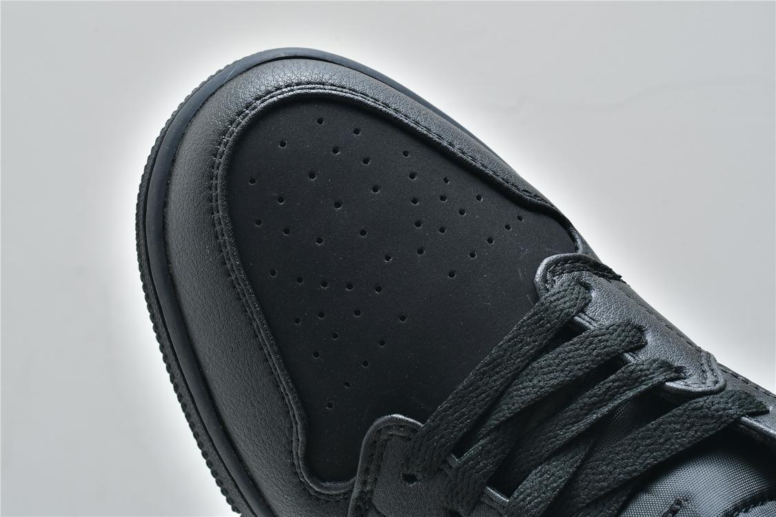 Air Jordan 1 Mid Triple Black 2018 10