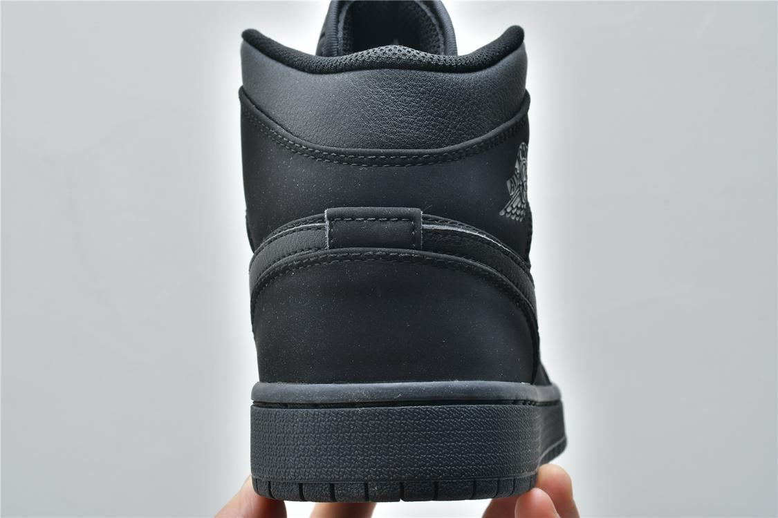 Air Jordan 1 Mid Triple Black 2018 13