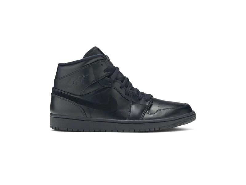 Air Jordan 1 Mid Triple Black 2019