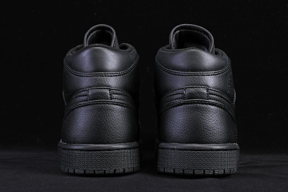 Air Jordan 1 Mid Triple Black 6