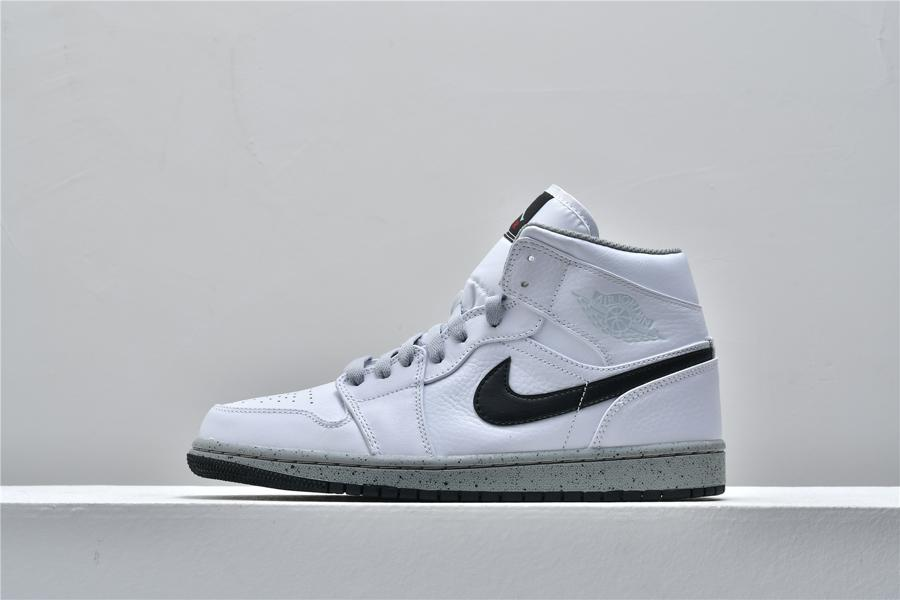 Air Jordan 1 Mid White Cement 1