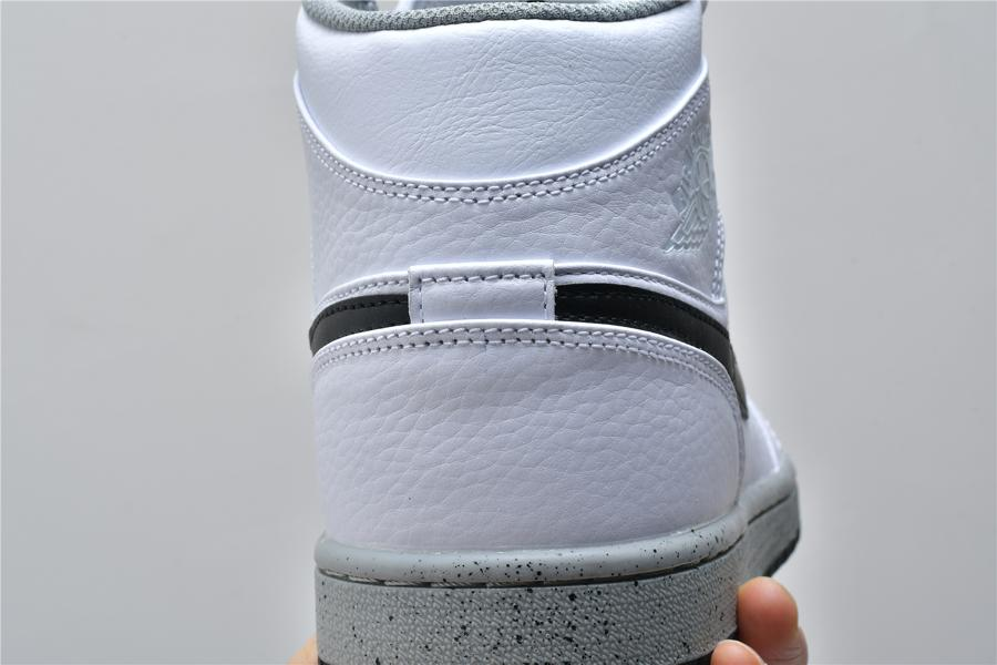 Air Jordan 1 Mid White Cement 10