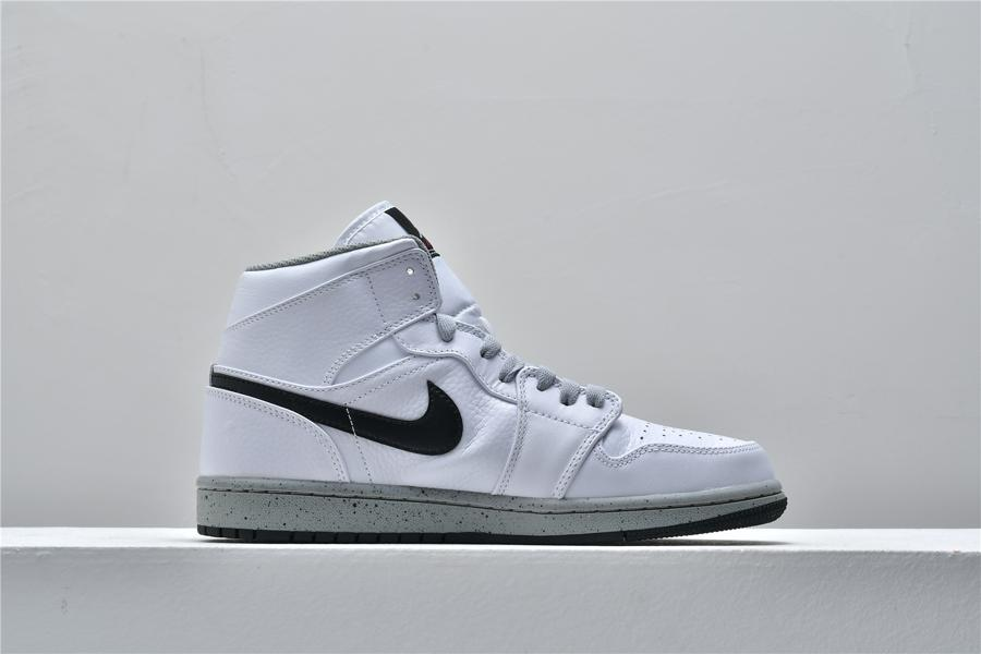 Air Jordan 1 Mid White Cement 2