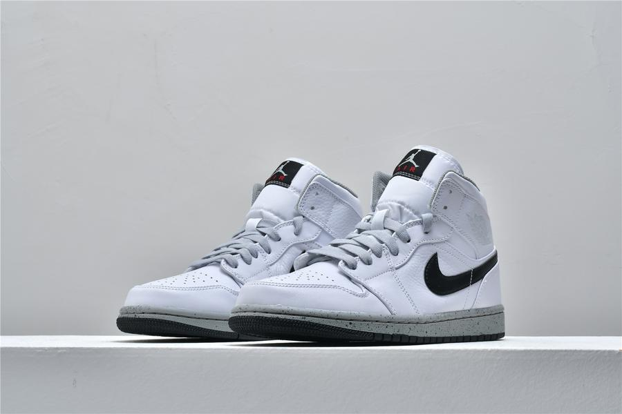 Air Jordan 1 Mid White Cement 4