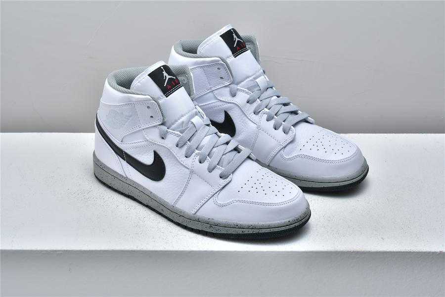 Air Jordan 1 Mid White Cement 6