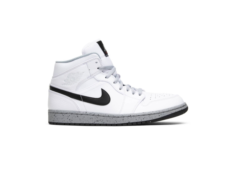 Air Jordan 1 Mid White Cement