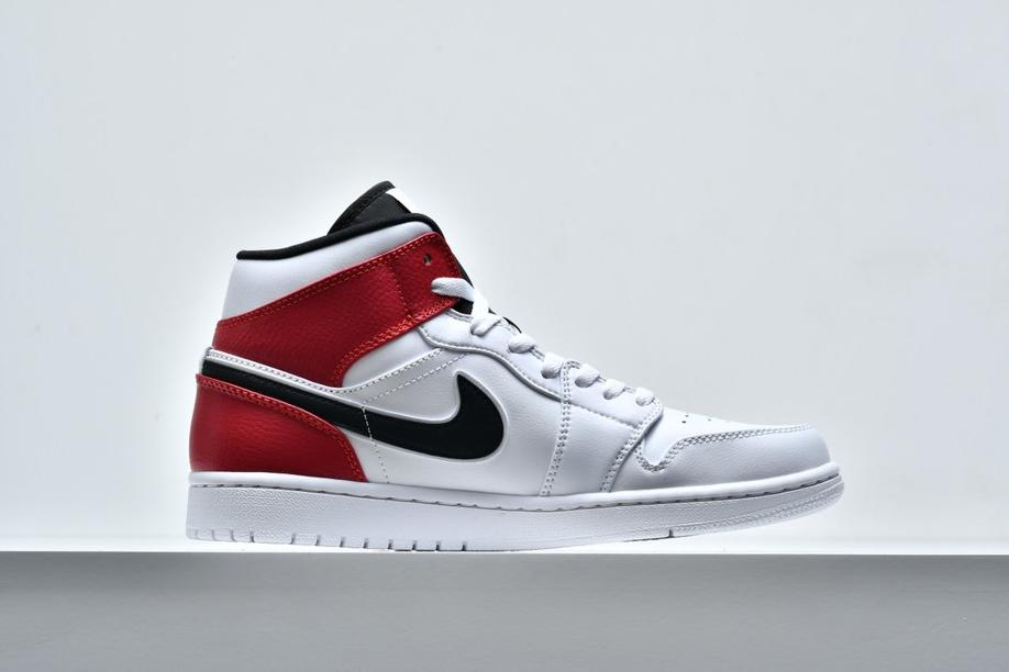 Air Jordan 1 Mid White Chicago 2