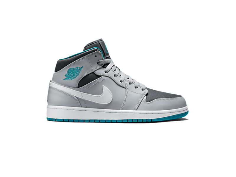 Air Jordan 1 Mid Wolf Grey Tropical Teal