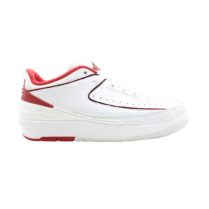 Air Jordan 2 Retro Low GS White Black Varsity Red