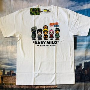 BAPE x Naruto Milo 3 Tee White 1