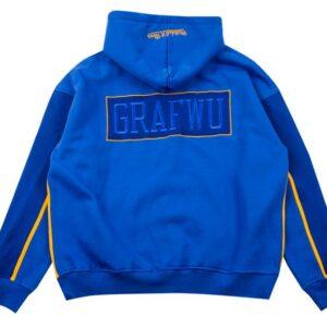 GRAFWU x Mitchell Ness Blue Hoodie 1