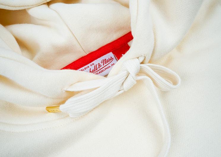 GRAFWU x Mitchell Ness Cream Red Hoodie 5