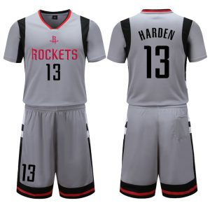 Houston Rockets Grey 13 Harden Uniform