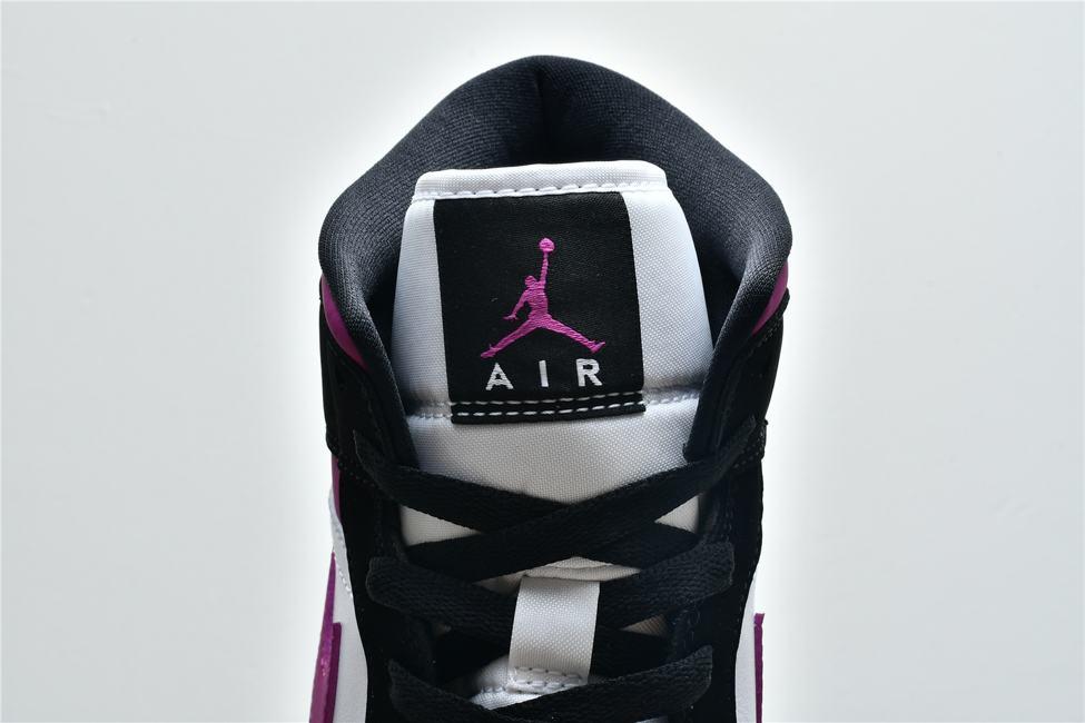 Wmns Air Jordan 1 Mid Black Cactus Flower 17