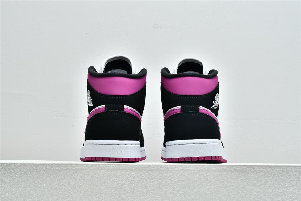 Wmns Air Jordan 1 Mid Black Cactus Flower 6
