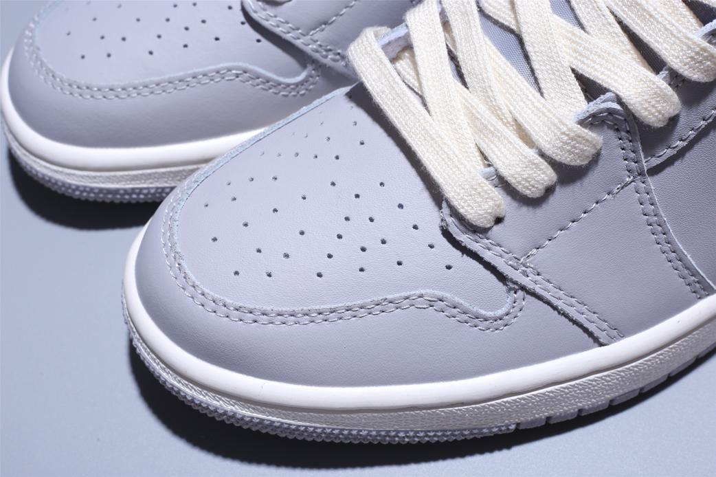 Wmns Air Jordan 1 Mid Grey Light Bone 10