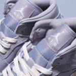 Wmns Air Jordan 1 Mid Grey Light Bone 11