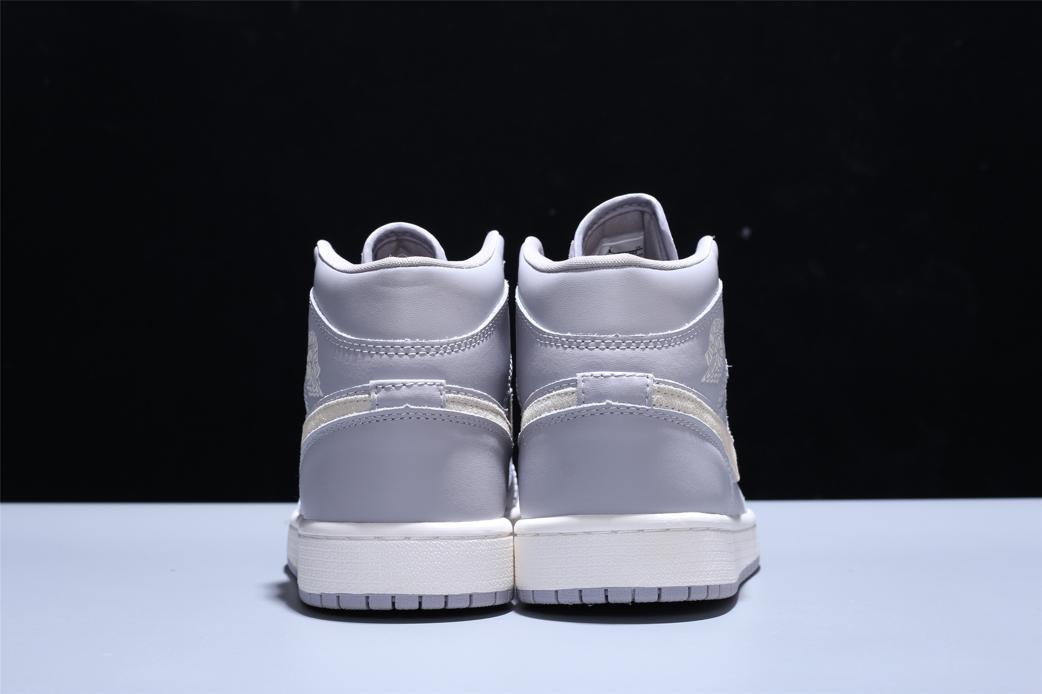Wmns Air Jordan 1 Mid Grey Light Bone 3
