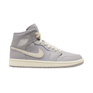 Wmns Air Jordan 1 Mid Grey Light Bone