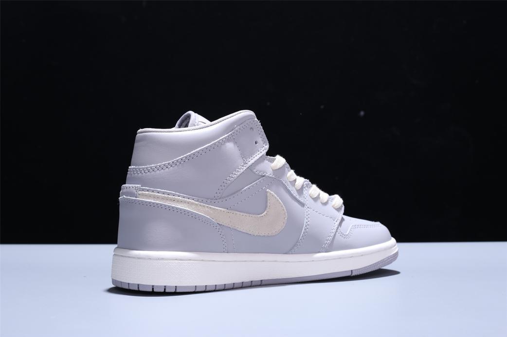 Wmns Air Jordan 1 Mid Grey Light Bone 7